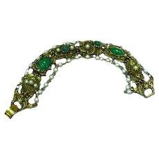 Glorious Goldette Victorian Revival Bracelet