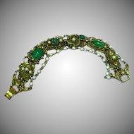 Unsigned Goldette Victorian Revival Bracelet