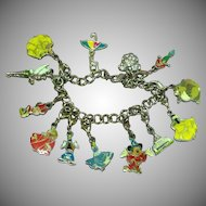 Disney Marked Enamel Charm Bracelet