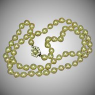"Vendome Classic Elegant Single 24"" Strand Cultured Pearls Necklace"