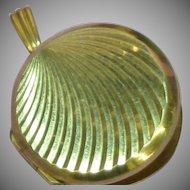 Antique Victorian Charm, 9 ct Gold, BK-FT Marked Locket Pendant