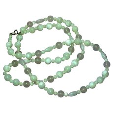 """Gemstones Mother of Pearl and Rose Quartz Beads 28"""" Necklace"""