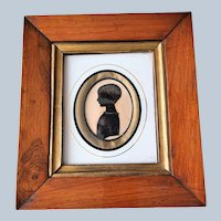 BEAUTIFUL Antique Framed Silhouette Or Shadow Portrait Of A Little Girl,Original Frame,Highly Decorative 18th Century Picture