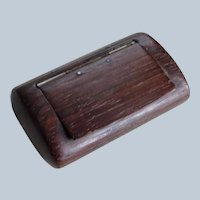 LOVELY Antique Rosewood Snuff Box,Beautifully Carved Late Georgian Early Victorian Box,Hinged Snuff Box,TreenWare,Wooden Ware Box,Collectible Boxes