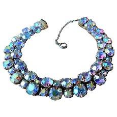 Sparkling SHERMAN Bracelet,Prong Set,Aurora Borealis Brilliant Rhinestones,Dazzling Swarovski Crystal,Collectible Glittering Sherman Jewelry