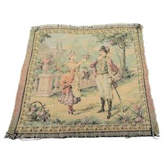 GORGEOUS Small French Antique Tapestry,Beautiful Colors,French Decor,French Country, Chateau Decor,Collectible Tapestries