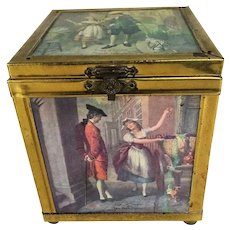 LOVELY Vintage 1920s TEA CADDY,Cries of London,English Tea Caddy,Hand Crafted,Linton England,English Country Décor,Collectible Tea Caddies