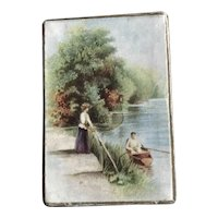 "19th Century German Trinket Box for Dolls ""By the River"""