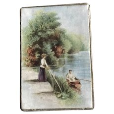 """19th Century German Trinket Box for Dolls """"By the River"""""""