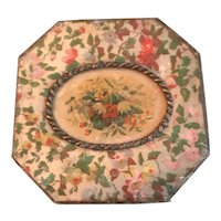 19th Century Octagonal Trinket Box  with Cameo Center
