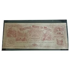 1870's Reward of Merit—National Bank of  Merit