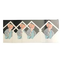Set of 4 Flapper Cut Out Placecards