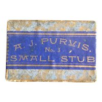 Unopened Blue AJ Purvis #3 Small Stub Pen Nib Box