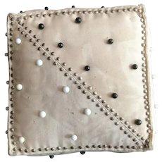 Square Silk Pin Decorated Pin Cushion