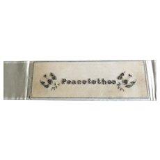 19th century Beaded Berlinwork Bookmark —Peace to Thee