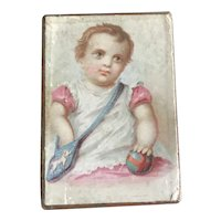 19th Century Young Child Trinket Box for Doll Display