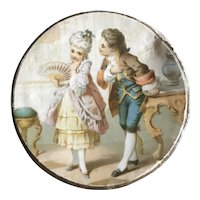 19th Century Round Trinket Box for a Doll's Hat