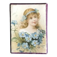 19th Century Forget Me Not  Trinket Box