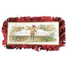 19th Century Silk Fringe Double Sided Birthday Card