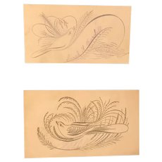 Two 19th Century Calligraphic Calling Cards - $18