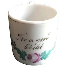 19thc Small China Presentation Cup