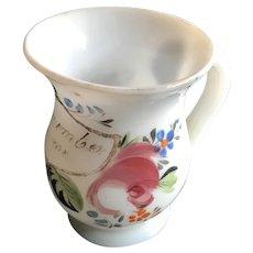 19th Century Bristol Glass Mug - Remember Me