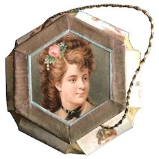 19th Century Hanging Balloon Sided Candy Container for Doll Display