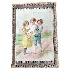 19thc Child's Handkerchief Box for Doll Display