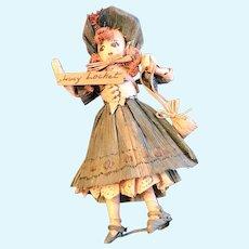 Vintage Corn Husk Doll —Lucy Locket