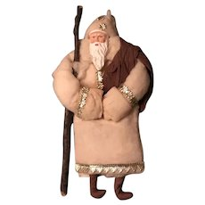 20thc Spun Cotton Belsnickel or Father Frost Ornament