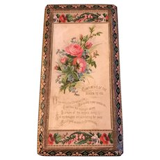 Victorian Christmas Handkerchief Box with Hankies