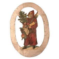 19th Century Hand Made Pennsylvania Santa Ornament