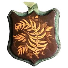 19th Century Fern Ware Pin Keep