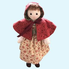 Little Red Riding Hood —An Edith Flack Ackley Style Cloth Doll UFDC 2006