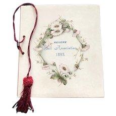 1893 Dance Card for the Revere Ball Association