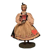 "Marguerite Uebel Wax Doll ""Ober Bayern"""