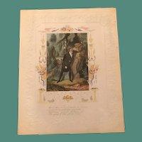 1840's Addenbrooke Quarto Valentine-Unrequited Love