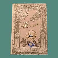 1850/1860's Unmarked English Silvered Paper Lace Valentine