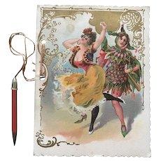 1903 Dance Card -  Deutscher  Arbeiter Club  Mask Ball