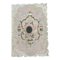 1850's English  Kershaw Embossed Double Paper Lace Valentine