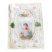 Tiny Taft Paper Lace Valentine for your Doll Display