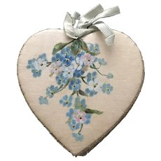 Heart Shaped Forget Me Not Needlebook for Valentines Day