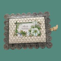 1880's Silvered Lace Perfumed Sachet Valentine