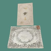 1857/1861 Mansell Valentine with Stamped Envelope