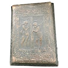 Victorian Traveling Leather Secretary Pad with Embossed Cherubs