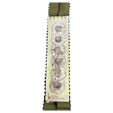 Late 19th/Early 20th century Celluloid Bookmark - Daisy Children