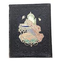 Beautiful 1859  Friendship Album from Massachusetts - Forget Me Not