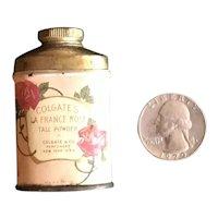 Sample Size Talc Tin - Colgate's La France Rose