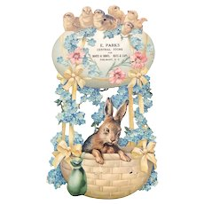 Late 19th/Early 20thc Embossed Easter Advertising Diecut - Egg Balloon