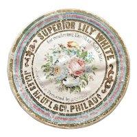 1850's Powder Box with Provenance – Jules Hauel & Co, Philadelphia